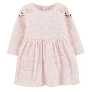 New Carters Baby Girl Kitty Pink Dress Clothes